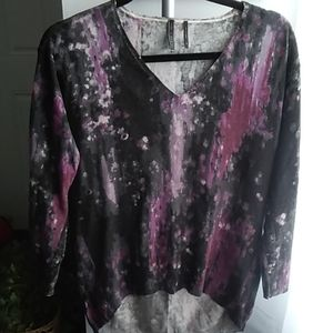GUESS~ Whisper Soft, Watercolor Pullover